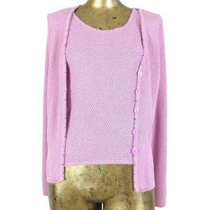 Vintage 90s Pink Knit Button Down Cardigan Sweater